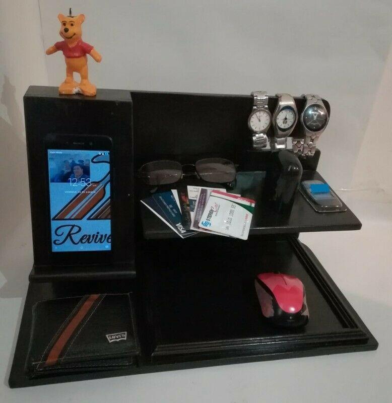 Organizador de accesorios para escritorio y porta celular