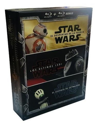 Star Wars Trilogia Episodios 7 8 9 Boxset Peliculas Blu-ray
