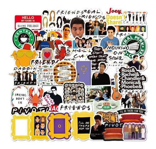 Friends 50 Calcomanias Stickers De Pvc Contra Agua Series Tv