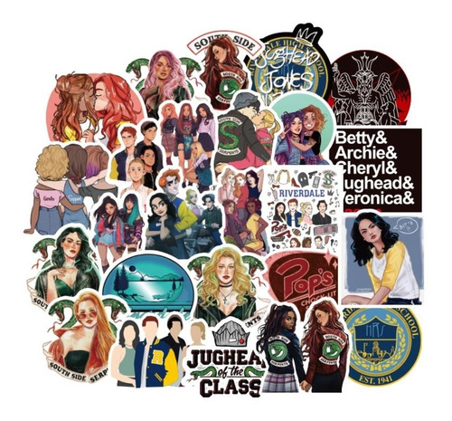 Riverdale 50 Calcomanias Stickers Pvc Contra Agua Serie Tv