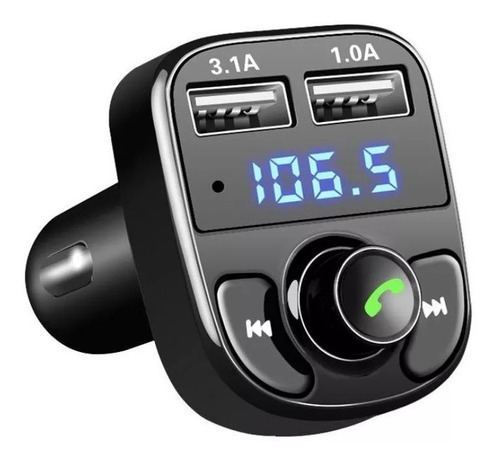 Transmisor Fm Receptor Bluetooth Audio Radio Auto Stereo Mp3