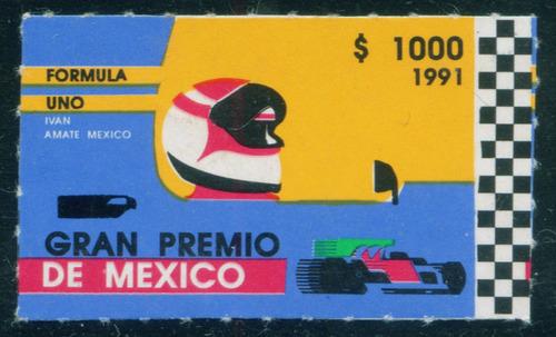 Mexico  Formula 1 Con Resello De Aguila Negra Raro Mint