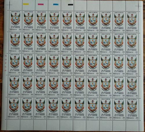 Mexico  Querétaro Hoja Completa 50 Timbres Mint