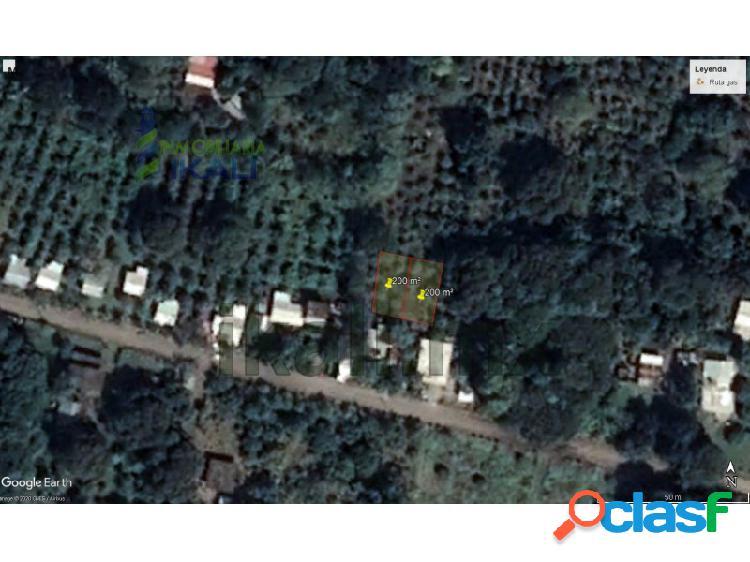 Venta 2 terrenos 200 m² Col. El triangulo Tuxpan Veracruz,