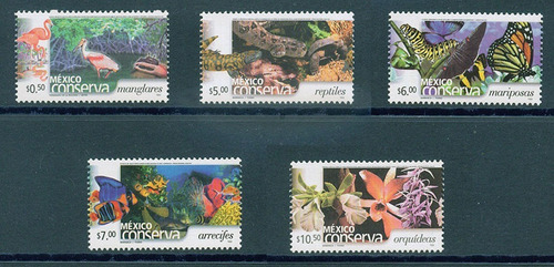 Mexico Conserva  Timbres Perf 14 Papel Grueso 2b - Mint