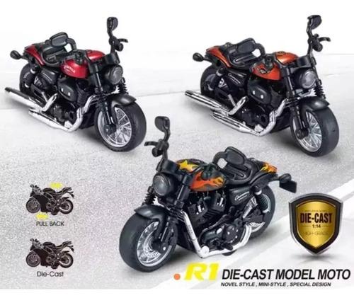 Motocicleta Escala De Colección Juguete Con Luz Y Sonido