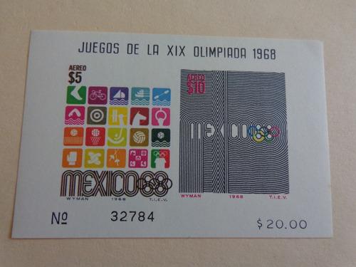 México Sc. C344a, Año , Olimpiadas México ´68.