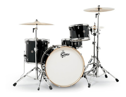 Bateria 4 Pzas Negra Gretsch Catalina Club Rock Ct1r444c