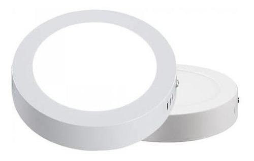 Lámpara De Sobreponer Led 9w Redonda Alto Brillo Luz Blanca