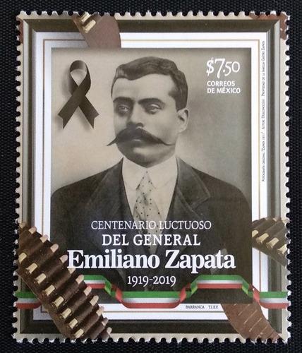 Mexico  Emiliano Zapata Centenario Timbre Postal Oportun