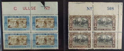Mexico  Independencia Set Blocks 4 Mint Nh Sc. 632 Y 633