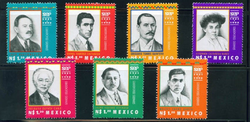 Mexico  Maestros Serie Cpl. 7 Timbres Mint Nh Oportunid