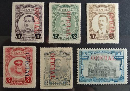 Mexico  Serie Oficial Rojo Sc. O155-o165, Foto Mint Rar