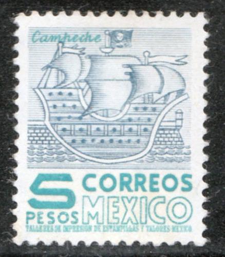 Mexico Serie  Pie Alto Fil Mex Hor. Sc. 883a Mint Lh