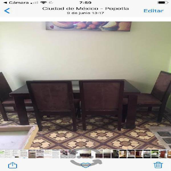 Comedor 4 sillas madera sello de calidad reforzado