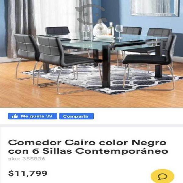 Comedor de 6 sillas nuevo