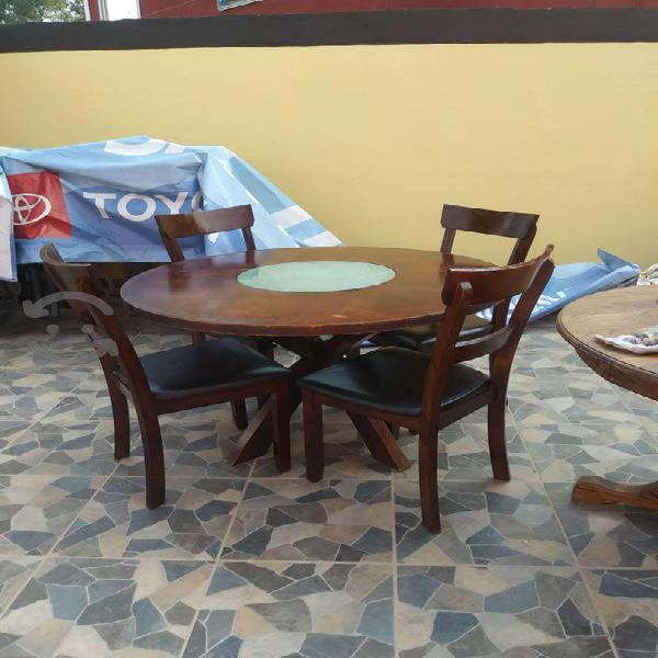 Comedor de madera 4 sillas