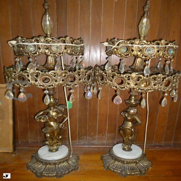 Lámpara Vintage Figura de Mujer Base Mármol