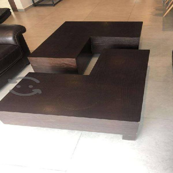 MESA DE CENTRO MADERA 2 mesas de centro en madera