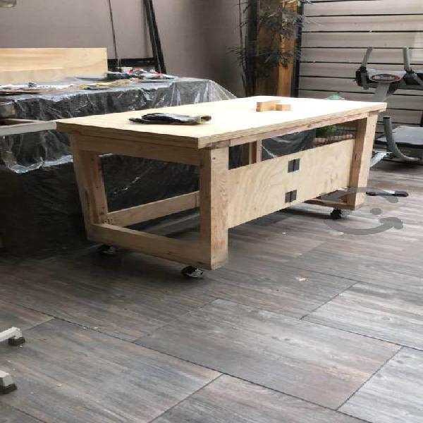 Mesa de trabajo Plegable 100% madera de pino NUEVA