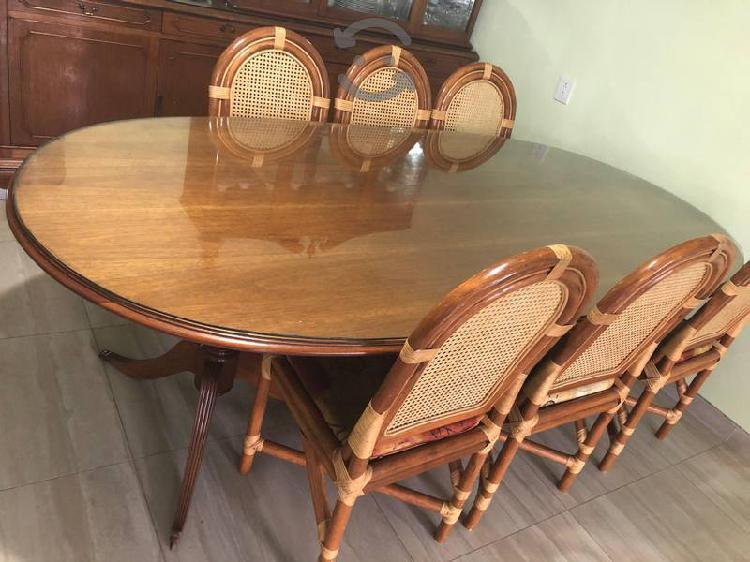 comedor de caoba con 10 sillas incluidas