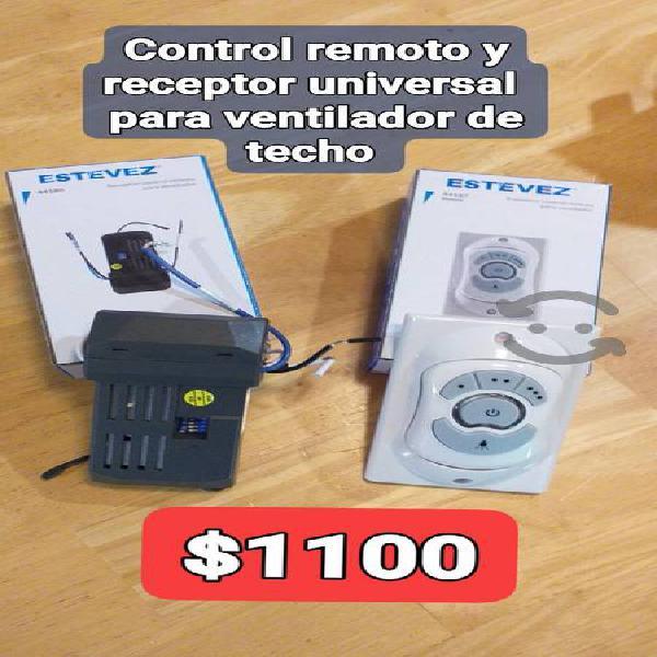 control y receptor universal para ventilador