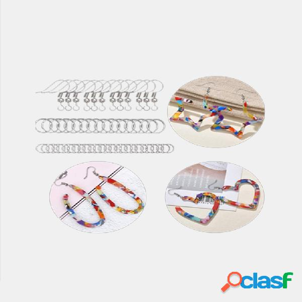 123 piezas de moldes de resina para pendientes Silicona