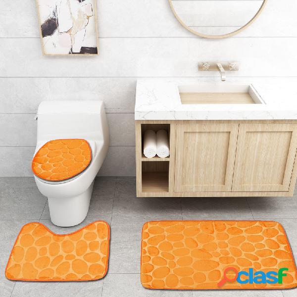 Cuarto de baño juego de alfombras cubierta de inodoro 🥇 ...