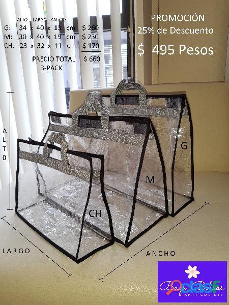 BOLSAS DE PLASTICO CRISTAL ANTI COVID19