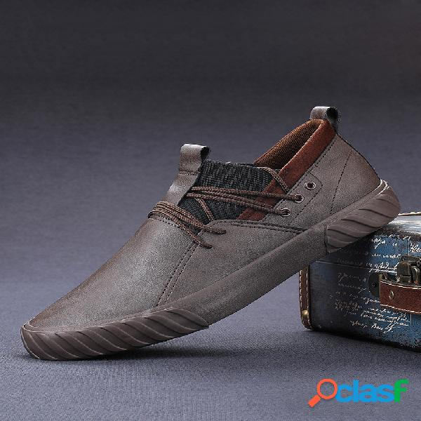 Hombres Pure Color Micorifber Leather Antideslizante Soft