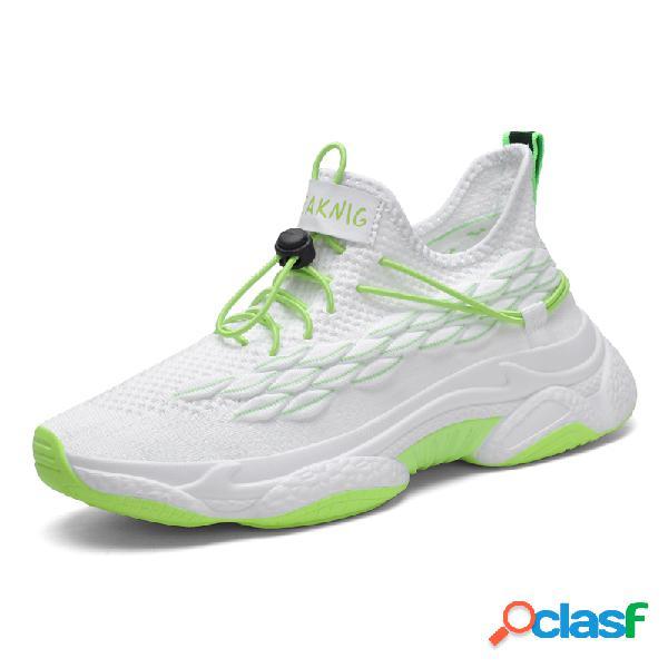 Zapatillas deportivas para correr con cordones elásticos