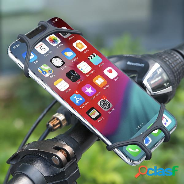 Soporte de silicona para teléfono de bicicleta para iPhone