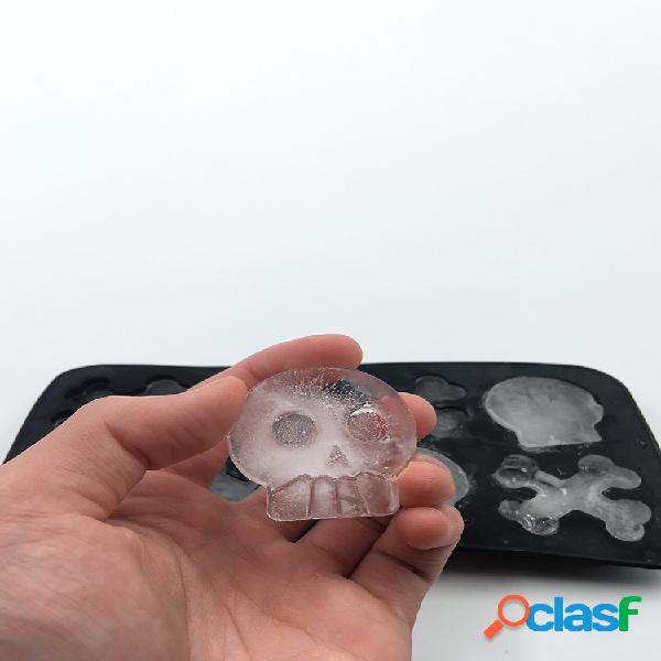 Bandeja de hielo de silicona 8 con Cráneo Bandeja de hielo