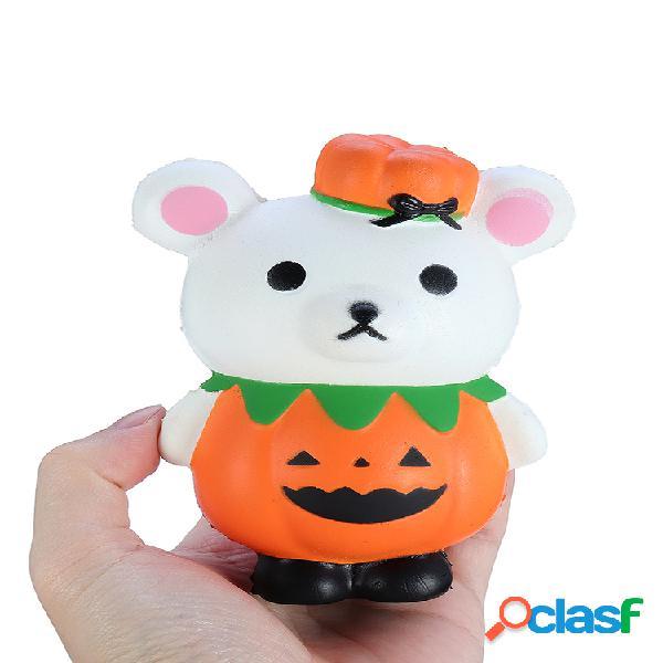 Juguete de regalo Squishy de oso de calabaza de Halloween